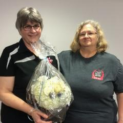 The local thanked Heather Colhoun for her service and congratulated her on her upcoming retirement. Local president Melanee Jessup made the presentation.