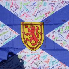 Flag at end of lunch, more signatures to come