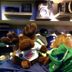 The moose is shopping for Vancouver souvenirs
