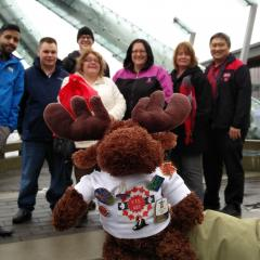 The UTE Moose visited the Olympic Cauldron.