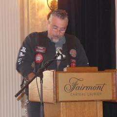 Titan, President of the Ottawa Chapter and the Ontario Provincial President of B.A.C.A . (Bikers Against Child Abuse)