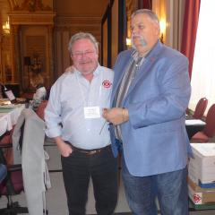 Wayne Little receives his 25 year pin from Robert Campbell
