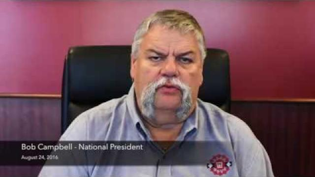 Embedded thumbnail for Robert Campbell, National President discusses the upcoming ratification vote