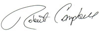 Robert Campbell signature