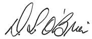 Shane O'Brien's signature